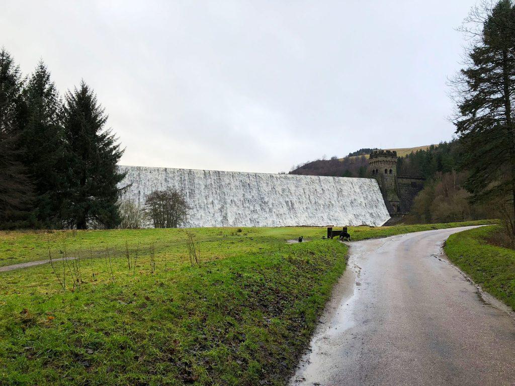 Derwent Dam overflowing after heavy rain