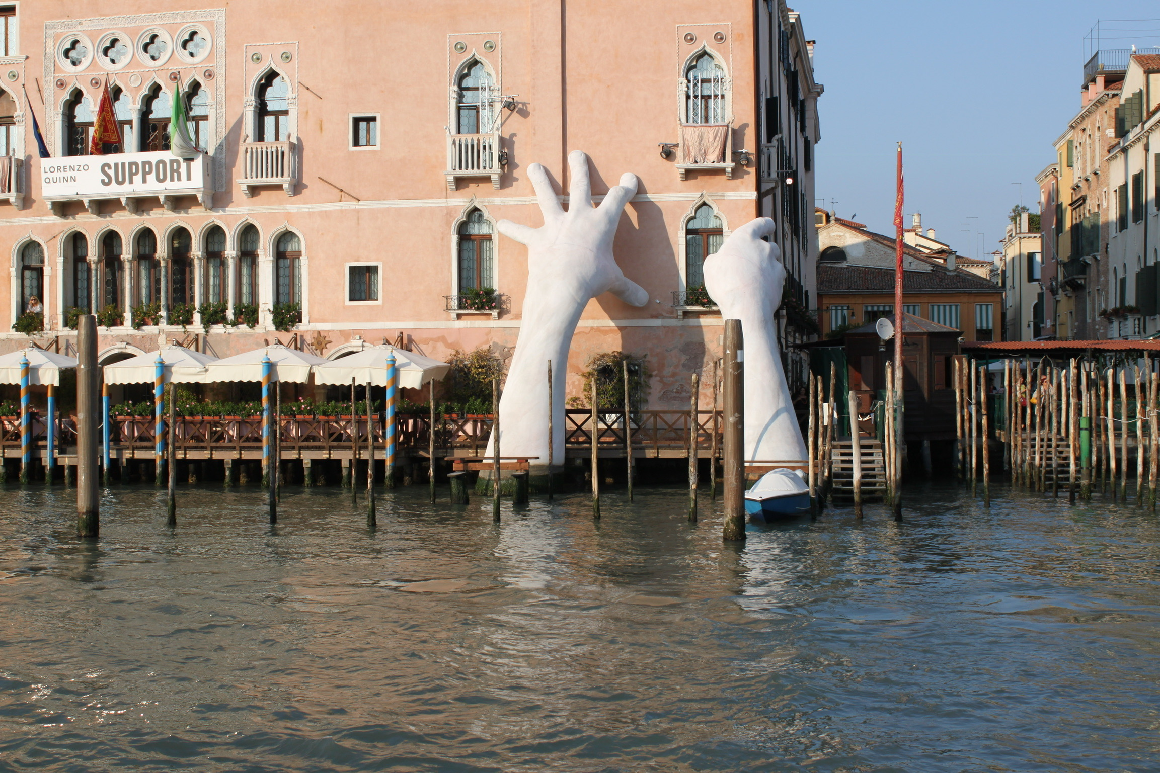 Venice Grand Canal Giant Hands