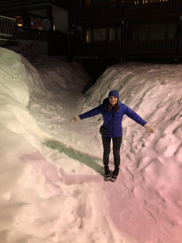 Briony in the Snow La Plagne
