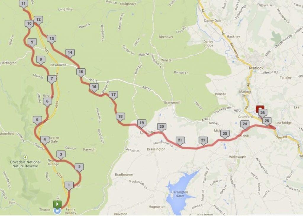 White Peaks Marathon Route