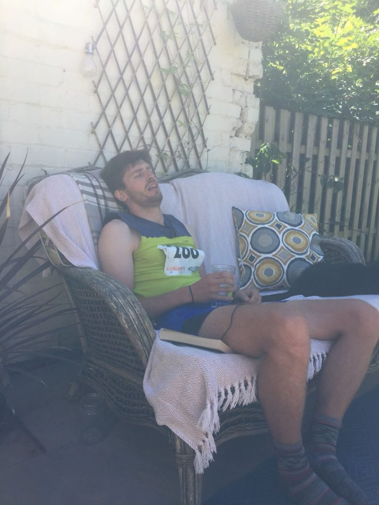 Tim Slack dying after Ladybower marathon 2018
