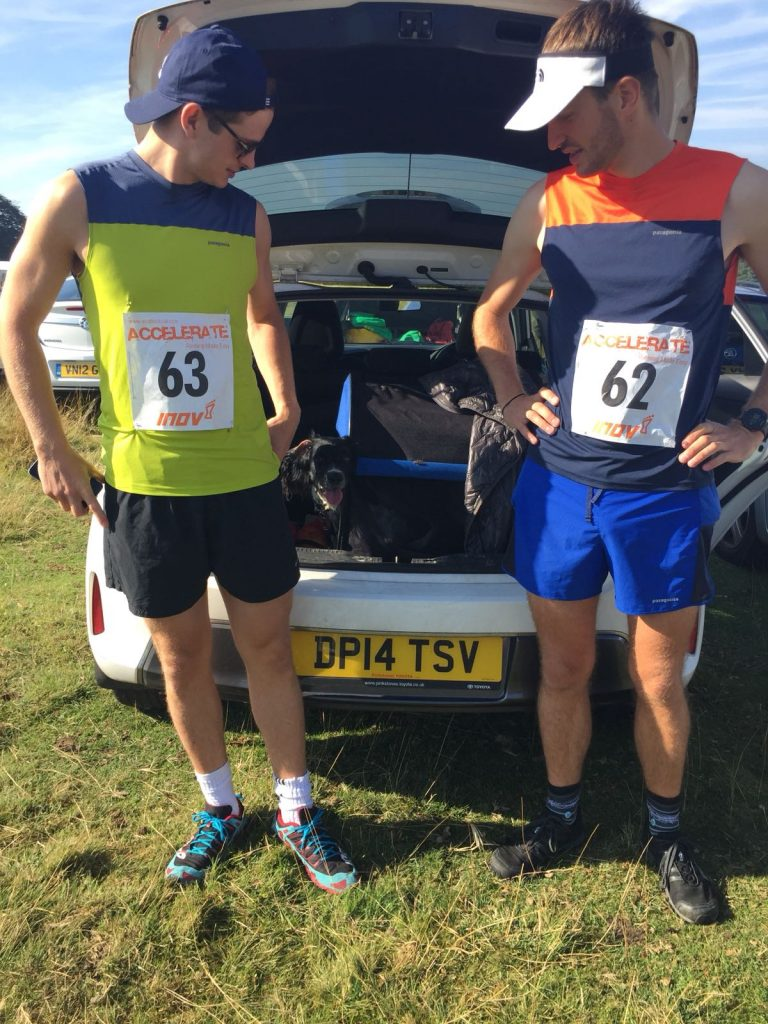 Tim Slack & Will Tatlow at Longshaw Fell Race