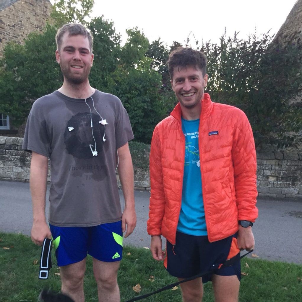 Sweating after running Pilsley Fell Race