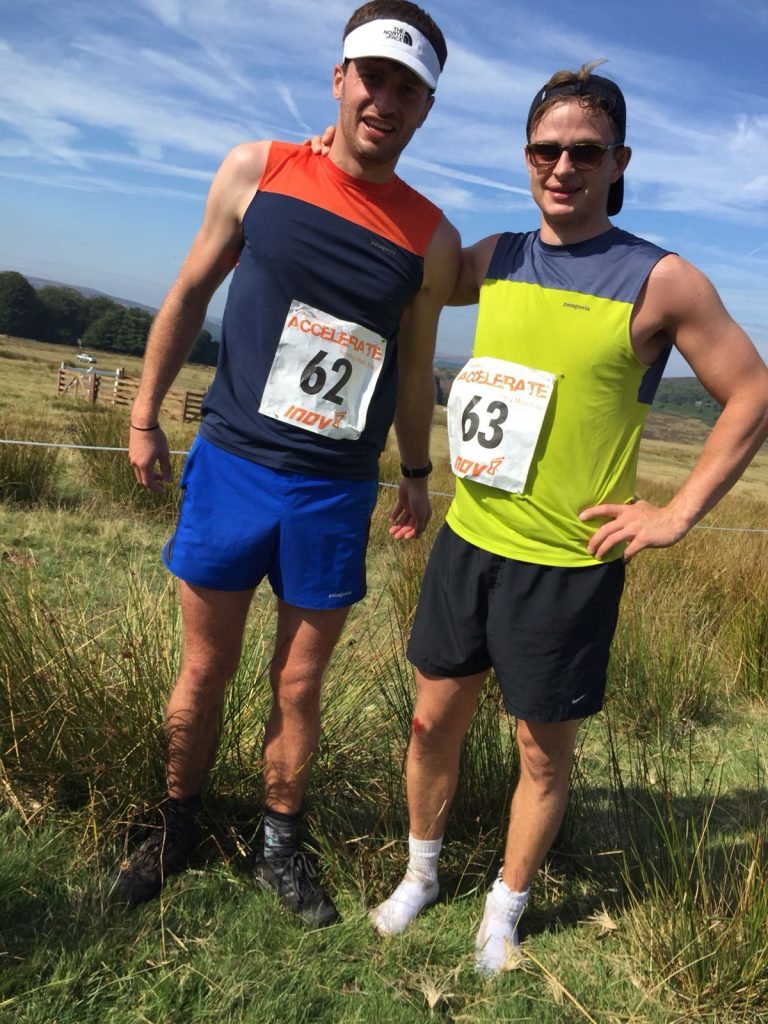 Post run photo Longshaw Fell Race