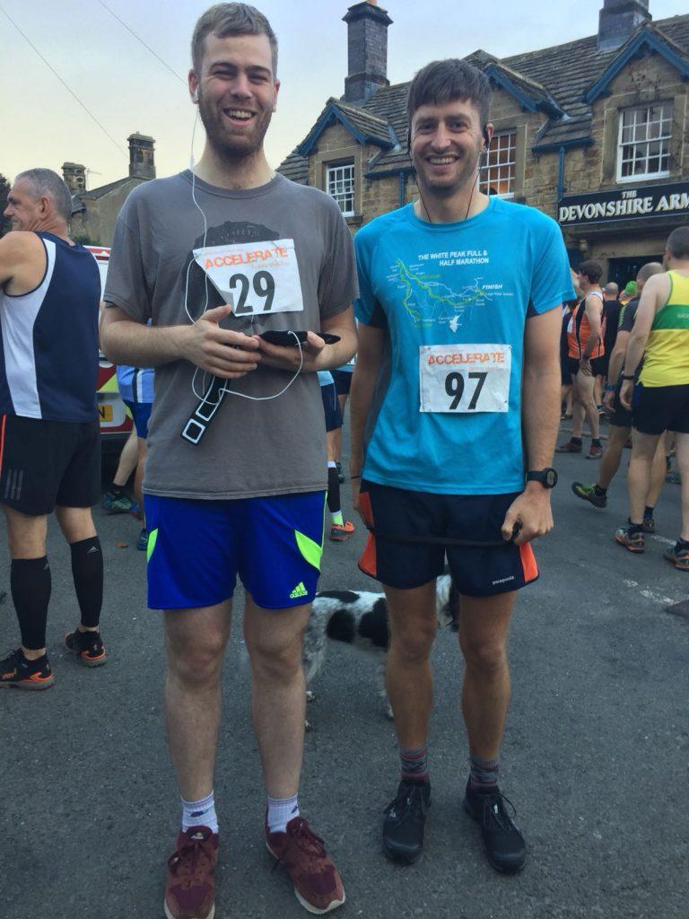 Tim Slack & James Moor Pilsley Fell Race Start Line