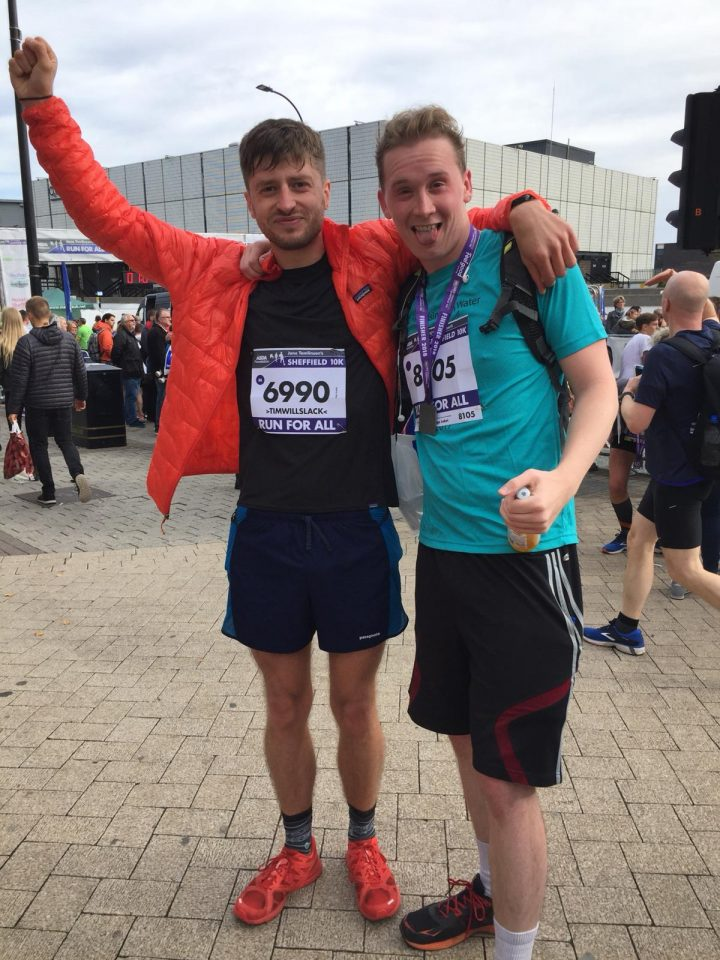 Tim Slack & Sam Novelli Running Sheffield 10km