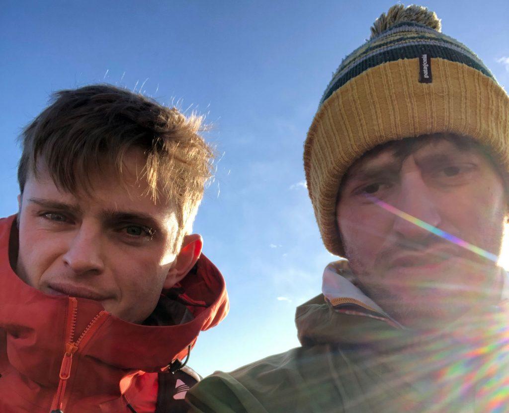 Will Tatlow & Tim Slack at Tigger Tor start line