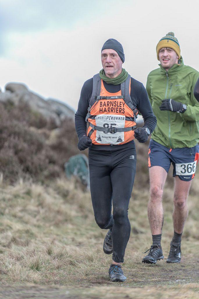 Tim Slack running Tigger Tor Fell Race